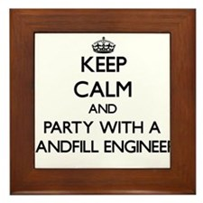 Keep Calm and Party With a Landfill Engineer Frame