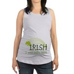 Irish I Was Outta Here Maternity Tank Top