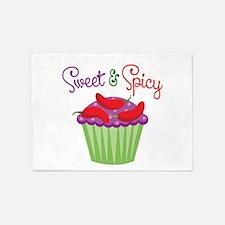 Sweet Spicy Jalapeño Cupcake 5'x7'Area Rug