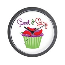 Sweet Spicy Jalapeño Cupcake Wall Clock