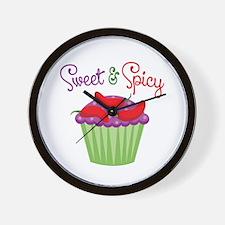Sweet Spicy Jalapeño Cupcake Wall Clock