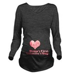 Bumps First Valentines Day Long Sleeve Maternity T