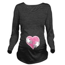 Hands on Heart Long Sleeve Maternity T-Shirt