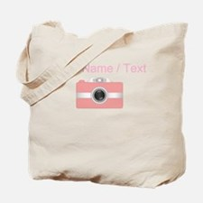 Custom Pink Camera Tote Bag
