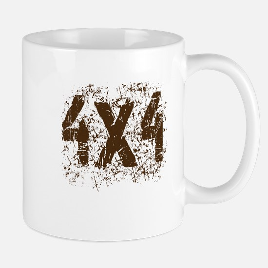 4x4. Off road truck saying in mud Mug