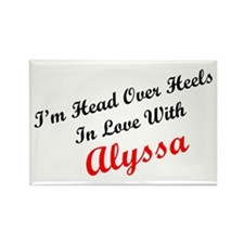 In Love with Alyssa Rectangle Magnet