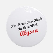 In Love with Alyssa Ornament (Round)