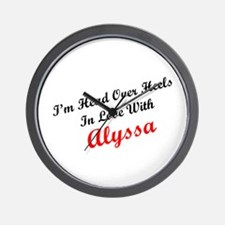 In Love with Alyssa Wall Clock