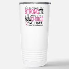 Breast Cancer HowStrong Travel Mug