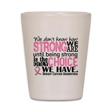 Breast Cancer HowStrongWeAre Shot Glass