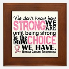Breast Cancer HowStrongWeAre Framed Tile