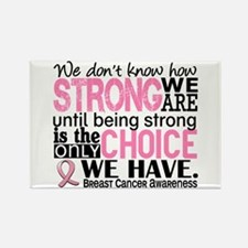 Breast Cancer HowStrong Rectangle Magnet (10 pack)