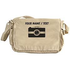 Custom Black Camera Messenger Bag