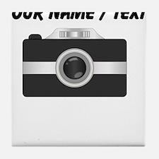 Custom Black Camera Tile Coaster