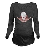 Rock Mom Skull Long Sleeve Maternity T-Shirt
