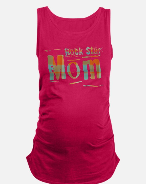 Plaid Rock Star Mom Maternity Tank Top
