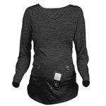 Mp3 Headphones Long Sleeve Maternity T-Shirt