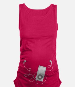 Mp3 Headphones Maternity Tank Top
