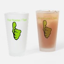 Custom Green Thumbs Up Drinking Glass