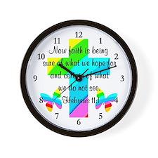 HEBREWS 11:1 Wall Clock