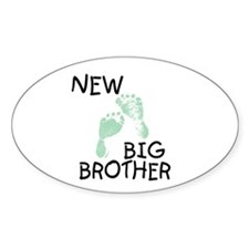 New Big Brother (green) Oval Decal