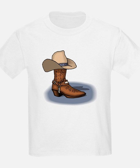 Cowboy Boot and Hat Kids T-Shirt
