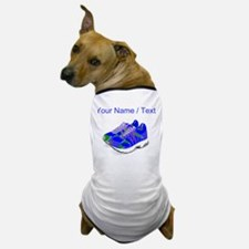 Custom Blue Running Shoes Dog T-Shirt