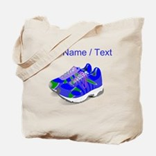Custom Blue Running Shoes Tote Bag