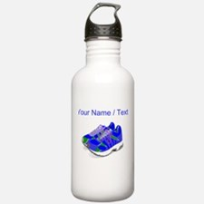 Custom Blue Running Shoes Water Bottle