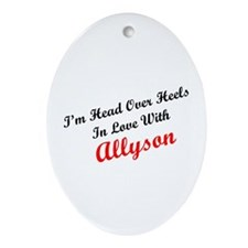 In Love with Allyson Oval Ornament