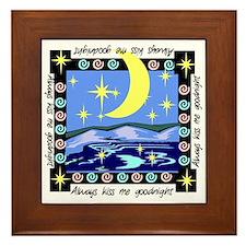 Always Kiss Me Goodnight Framed Tile