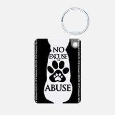 No Excuse for Abuse Keychains