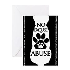 No Excuse for Abuse Greeting Cards