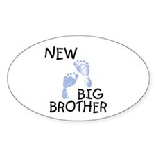 New Big Brother (blue) Oval Decal