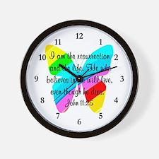 JOHN 11:25 Wall Clock