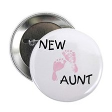 New Aunt (pink) Button