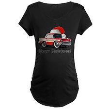 BabyAmericanMuscleCar_57BA_Xmas Maternity T-Shirt