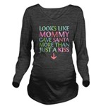Colorful Mommy and Santa Long Sleeve Maternity T-S