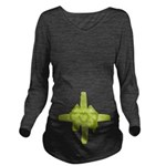 Tummy Bow Green Long Sleeve Maternity T-Shirt