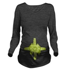 Tummy Bow Green Long Sleeve Maternity T-Shirt