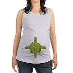 Tummy Bow Green Maternity Tank Top