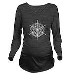 Winter Flake Long Sleeve Maternity T-Shirt