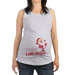 Santas Little Helper Maternity Tank Top