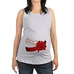 Do Not Open Til Christmas Maternity Tank Top