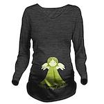 Green Little Angel Inside Long Sleeve Maternity T-