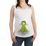 Green Little Angel Inside Maternity Tank Top