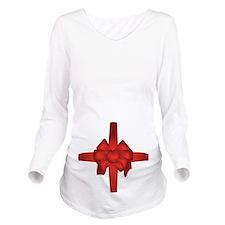 Tummy Bow Long Sleeve Maternity T-Shirt