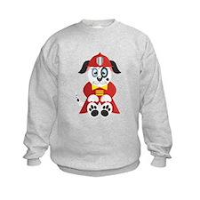 Cartoon Fire Dog Sweatshirt