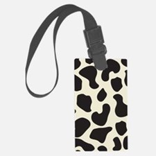 Cow Skin Cow Pattern Luggage Tag