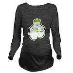 Green Bumps 1st Santa Long Sleeve Maternity T-Shir